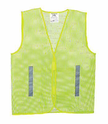 Mesh Hi Vis Yellow Reflective Safety Lightweight Breathable Vest Waistcoat