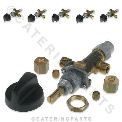 PACK 6 x GV13 LPG ON/OFF HIGH LOW TYPE GAS TAP CONTROL VALVES WITH TC MAGNET