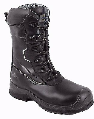 Portwest Leather Waterproof Traction 10 inch Anti Slip Safety Boots FD01