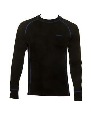 Skogstad 100% Merino Wool Base-layer Top. BLACK Various sizes available