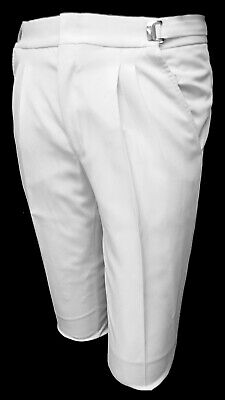 High Quality White Tuxedo Pants with Satin Stripe Durable & Machine Washable