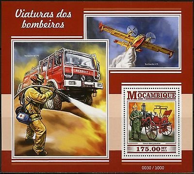 Mozambique  2015 Firefighting Vechiles, Planes & Boats S/s  Mint Never Hinged