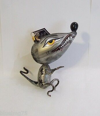 Slavic Treasures Ornament 2008 Rabid Rat Freeblown Glass Poland NEW IN BOX (S7)