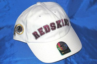 WASHINGTON REDSKINS 47 Brand WOMENS Embroidered   Embellished Logos Cap NWT   25 b86413a40