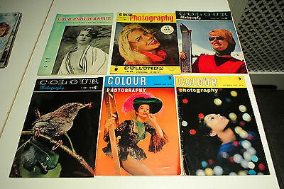 Vintage 1960s Good photography and Colour Photography magazine x 6