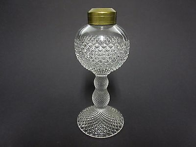 Crystal English Hobnail Oil Lamp / Westmoreland Co