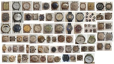 (3) Orologio - Calibro - Movimento - Sveglia Vintage Work /To Spare Parts Repair