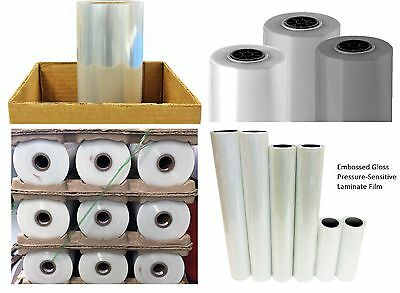 "3mil Clear PVC Embossed Textured Self-Adhesive UV Vinyl Laminate Roll 30"" x 150'"