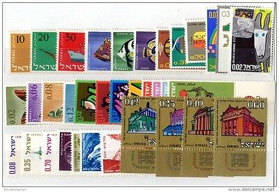 Israel 1958/75 Collection of 35 Values MLH X412