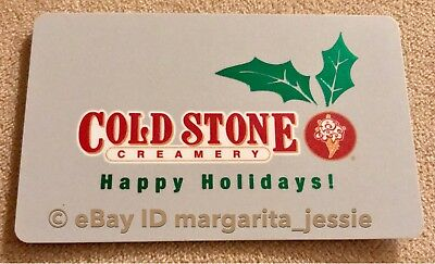 Cold Stone Creamery Happy Holidays Mistletoe Collectible Gift Card No Value New