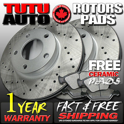 C0887 2006 2007 2008 2009 2010 2011 2012 2013 RAM 1500 Brake Rotors Ceramic Pads