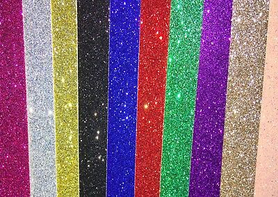 A4 Soft Touch Glitter Card ~ 280GSM white backed. 11 colours available.