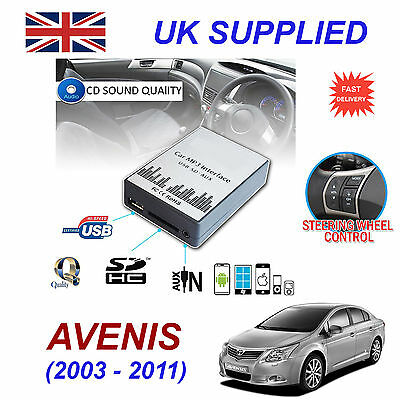 Toyota AVENSIS MP3 SD USB CD AUX Input Audio Adapter Digital CD Changer Module