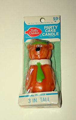 Vtg Yogi Bear Birthday Candle Figures New NOS 1970s Hanna-Barbera Betty Crocker