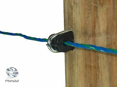 100 Electric Fence Staple on Insulators Poly Wire Rope tape Wood Post Galvanised