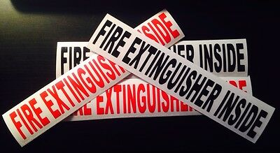 """FIRE EXTINGUISHER INSIDE  1.5""""x8.5""""  Vinyl Decal ⭐️20 Colors To Choose"""