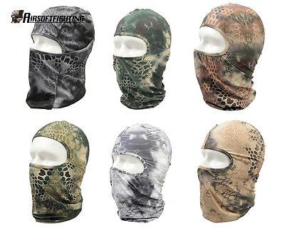 Tactical Balaclava Camouflage Full Face Mask Hunting Halloween Wargame paintball