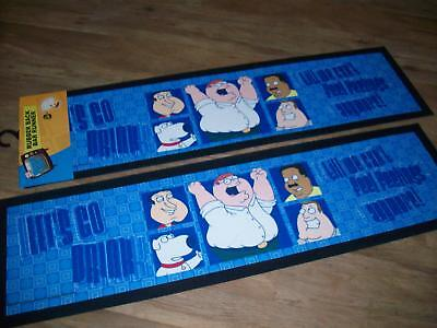 FAMILY GUY BAR RUNNER RUBBER BACK MAT POOL ROOM TV SHOW GIFT Collectable RRP $49