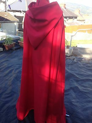 Red hooded cloak with Red lined hood more colours available (Cd38)