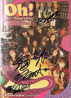 Girls Generation (SNSD)  Oh! 2nd Album Autographed  of 5 Members K-pop
