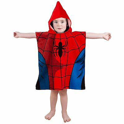 Spider-Man Poncho Towel New Official Spiderman Marvel