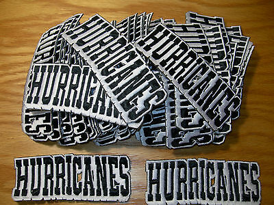"LOT of 25 ""HURRICANES"" EMBROIDERED IRON ON PATCH"