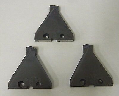 """Acme 050922-4 #3 Series T-A TiAlN 1.8750"""" Insert Blades (Lot of 3) USA"""