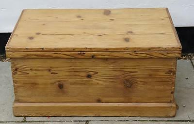 Early 20th century pine blanket box/chest, rustic,4 sided, re-furbished VGC