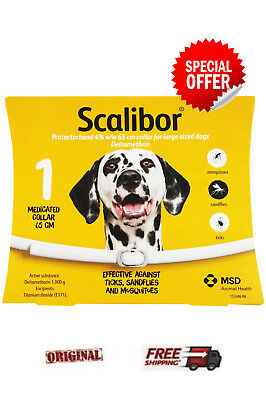 SCALIBOR   Flea & Tick  Collar  Large Dogs 65cm Original Sealed