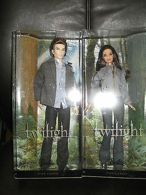 Barbie Two Twilight Dolls - Bella and Edward 2009 Ages 6+ Pink Label MIB