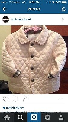 Pink 12 Month Burberry Jacket