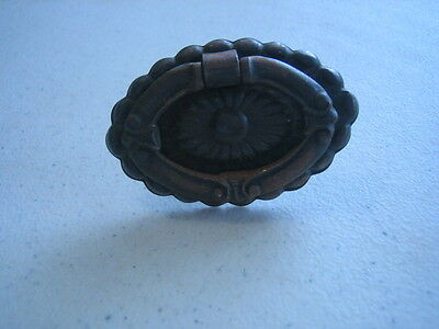 Antique Metal Very Ornate Drawer Pull