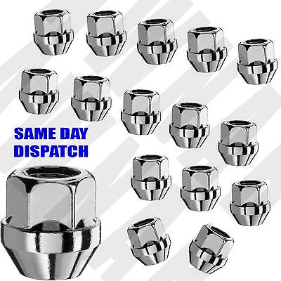 20 x alloy wheel open nut nuts bolts. M14 x 1.5, 19mm Hex Tapered Seat