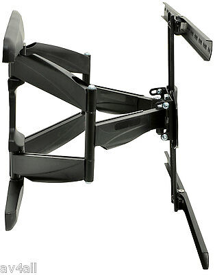 Swing and Tilt Cantilever full motion tv wall bracket Flat+Curved TVs 32-65 inch