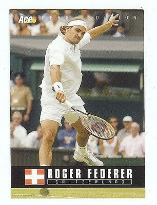 (19) ROGER FEDERER 2005 Ace Debut Edition Tennis Card LOT