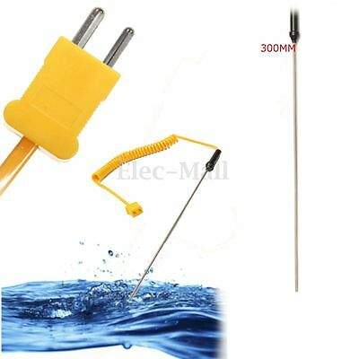 300mm K-Type Thermocouple Stainles Probe Temperature Controller Wire Sensor Test