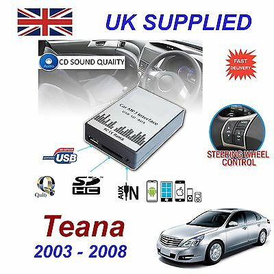 For Nissan TEANA MP3 SD USB CD AUX Input Audio Adapter CD Changer Module