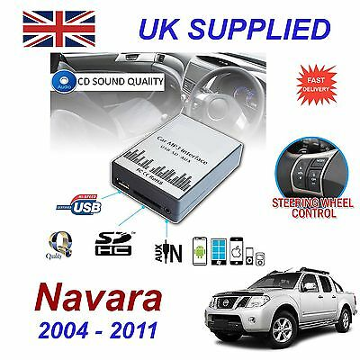 ForNissan NAVARA MP3 SD USB CD AUX Input Audio Adapter Digital CD Changer Module