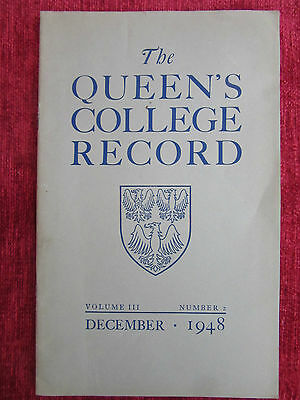 1948 The Queens College Record Boat Race Vintage Ephemera Booklet FC16