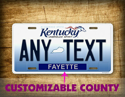 """CUSTOM KENTUCKY License Plate Unbridled Spirit State """"Any Text"""" Personalized Tag"""