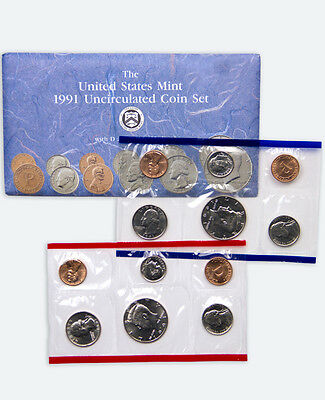 1991 United States US Mint Uncirculated Coin Set SKU1397