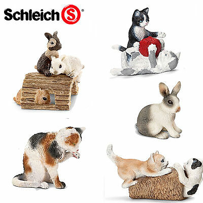 SCHLEICH World of Nature Farm Life CATS KITTENS RABBITS Choice of 13 with Tags
