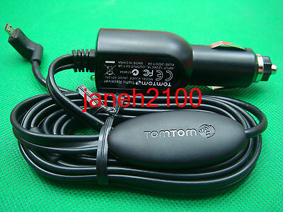 TomTom Micro-USB LT Traffic Receiver Car Charger VIA 280 adapter Cord RDS-TMC