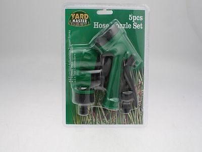 Garden 5 function hose sprayer with  4 connectors buy 1 set get 1 free