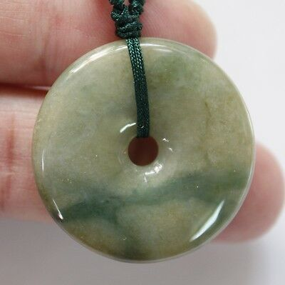 Certified Natural <A> Untreated Chinese Jadeite JADE Circle Donut Pendant P540