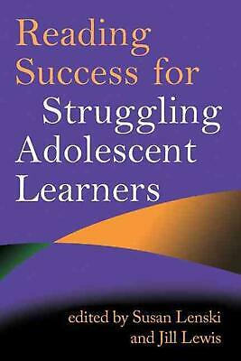 Reading Success for Struggling Adolescent Learners by Susan Lenski (English) Pap