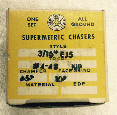 """NEW Supermetric #4-48 Chasers for Geometric 3/16"""" EJ5 Die Head"""
