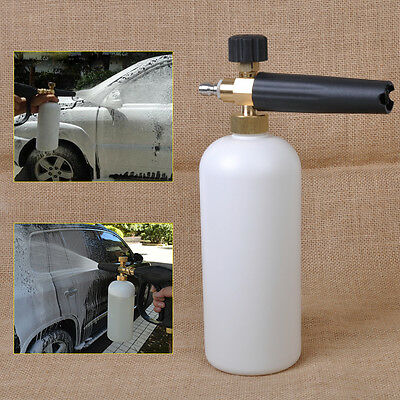 Adjustable Snow Foam Lance Car Washer Soap 1L Bottle Car Wash Gun 1/4