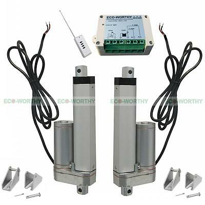 "2x 4"" 100mm Linear Actuator W/ Remote Control 330lbs Max Pound for Car,Medical"