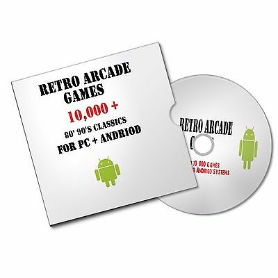 RETRO GAMES ARCADE DISC 80'S 90'S CLASSICS FOR PC  ANDROID CONSOLE #retrogaming